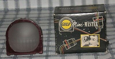 "Vintage Craftsman Guild Mini-Master 2 x 2"" 35 mm Slide Viewer w/Original Box"