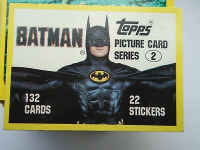 BATMAN  132 TOPPS GUM CARD SET 2 USA  issue 1989