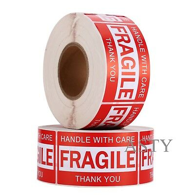 1000 Labels/1 Rolls 3x5 Handle With Care Fragile Label Sticker 1000 Per Roll