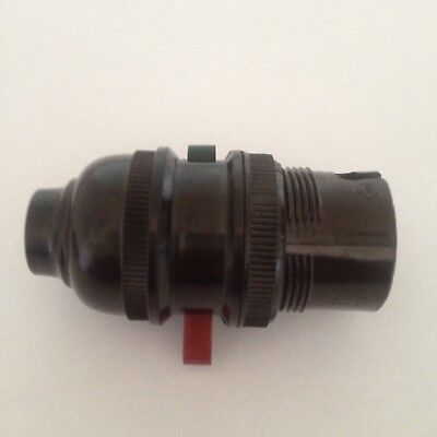 bakelite bulb holder with on off switch for anglepoise lamp brown 3 amp 250 volt
