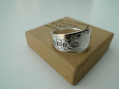 Funky Vintage – Gorgeous Victorian solid silver spoon ring - 1890 - Antique
