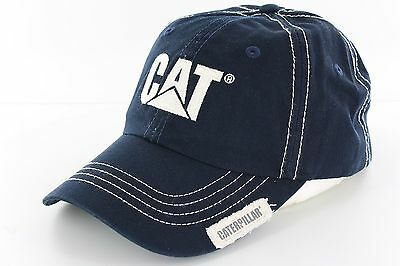 Cat Caterpillar Navy Logo Cap CATC100455