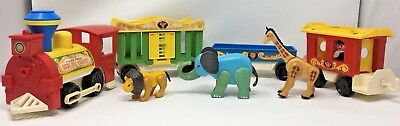 VINTAGE FISHER PRICE 1973 Little People Play Family Circus Train ...
