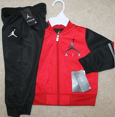 e66c5446bb6 NEW! BOYS NIKE Air Jordan Track Outfit (Jacket, Pants; Red) - Size ...