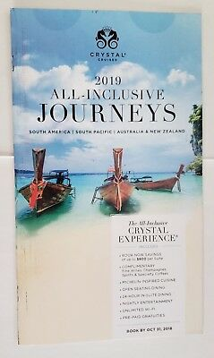 2019 Crystal Cruises ALL-INCLUSIVE JOURNEYS SA South Pacific Travel Cruises NEW!