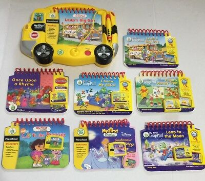 Leap Frog Pad My First Leap Pad School Bus With 7 Books And 5 Cartridge