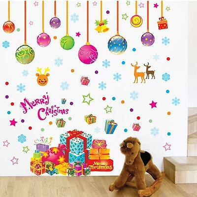 Hot Merry Christmas Removable Wall Stickers Vinyl Party Kids Room Decoration TO