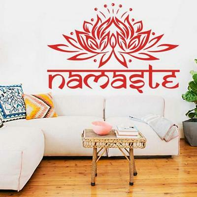 Hot DIY Namaste Lotus Wall Sticker Art Mural Decal Home Decoration 2 Sizes TO