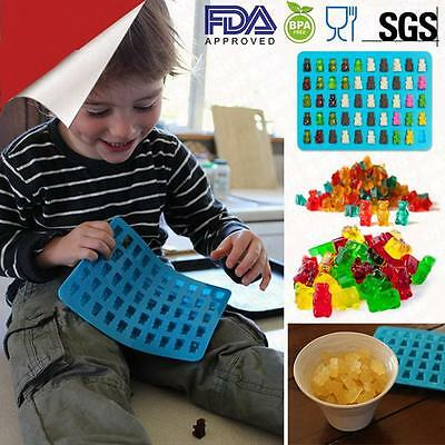 50 Cavity Silicone Gummy Bear Chocolate Mold Candy Maker Ice Tray Jelly Mould TO