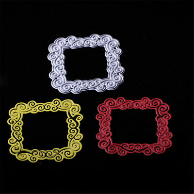 Square Lace Metal Cutting Dies Stencil For DIY Scrapbooking Photo Album Decor、AU