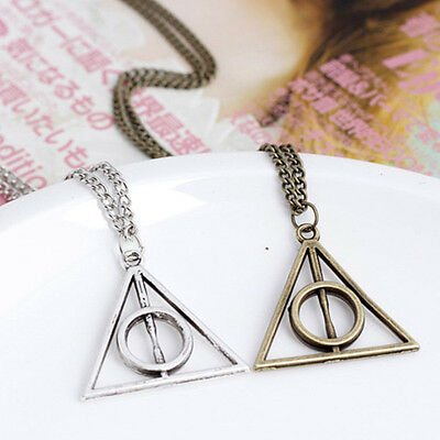 Movie Harry Potter -Deathly Hallows Metal Silver Necklace Pendant for Women Men