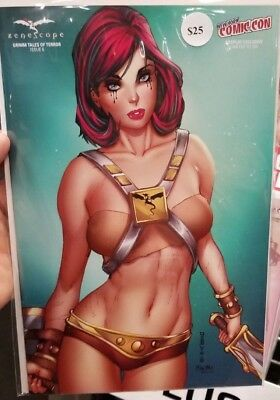 NYCC Zenescope Grimm Tales of Terror #6 He-Man MOTU Cosplay Cover Ltd to 250