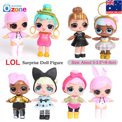 8Pcs LOL Surprise Doll Blind Mystery Toy PVC Action Figure Model Cake Topper