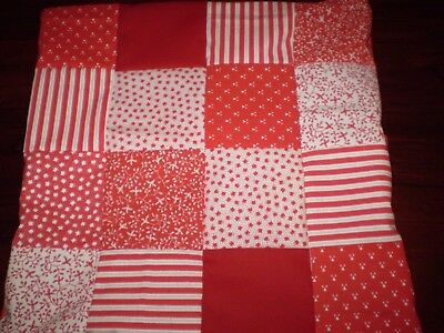 Patchwork Cushion Cover - Red - G