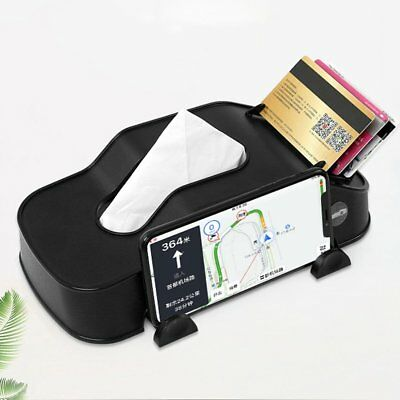 Car Tissue Box Plastic Phone Holder Cards Clip Car Armrest Block Paper Tower AU