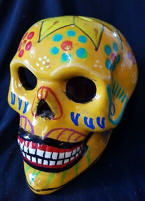 Unique Day of the dead Large Ceramic Mexican Candy Skull