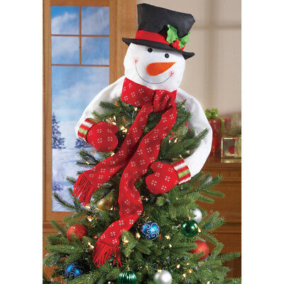 snowman christmas tree topper decoration xmas trees ornament for new year party