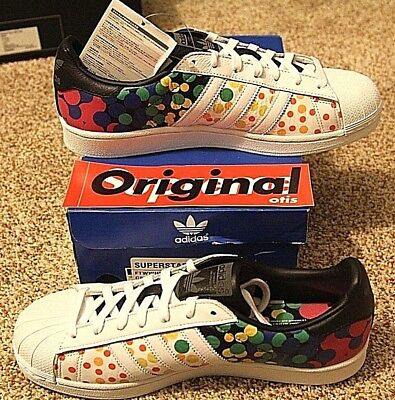 Brand New DS Adidas Superstar Pride Pack size 9.5, Multi-Color/White