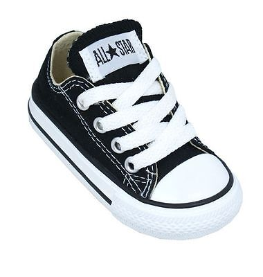 Converse Chuck Taylor All Star Ox Black White Infant Toddler Boy Girl Size 2-10