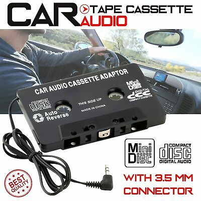 Car Music Audio Cassette Player Tape 3.5mm Adapter Aux Cable Cord For MP3