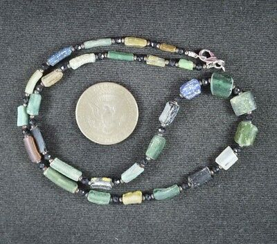 Ancient Roman Glass Beads 1 Medium Strand 100 -200 Bc 0984