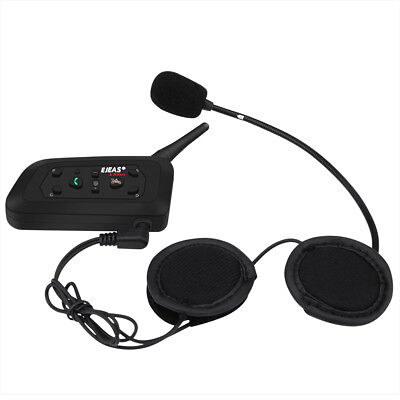 EJEAS V6 Pro 1200M Motorcycle Helmet Interphone Bluetooth Intercom GPS Headset
