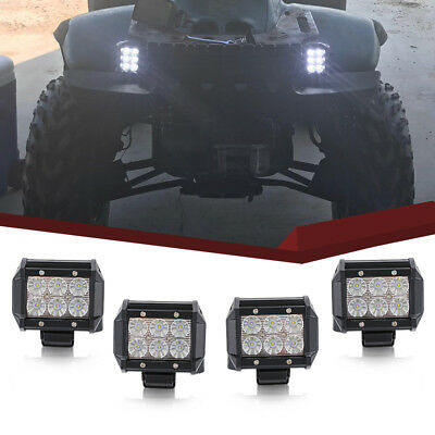 4x 18W Led Work Lights Pods flood Offroad Lamp For ATV JEEP CAR UTE Truck Cube