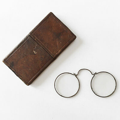 Antique Nuremberg Spectacles Antique Brass Spectacles w Case 17th early 18th C