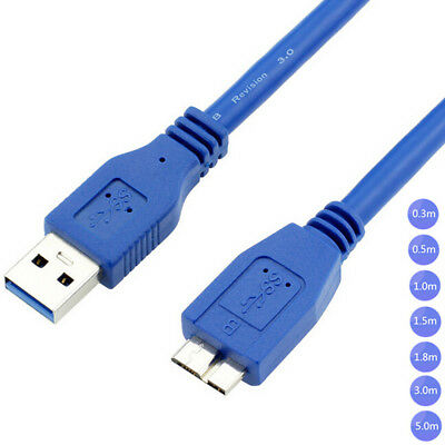 1.5m 1m High Speed USB 3.0 Male Type A to Micro B Data Cable Cord Hard Drive HDD