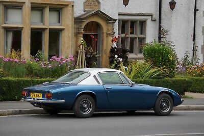 Lotus Elan +2S Lagoon Metalic Blue/Silver Metal Flake Roof with Black interior