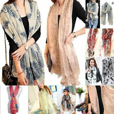 1PC Women Long Neck Large Scarf Wrap Shawl Pashmina Scarves Chiffon Cotton