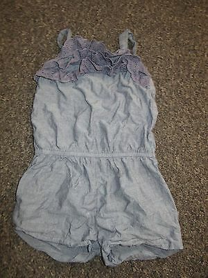 Girls NEXT Playsuit Age 4 Years Blue Lace Frills Romper Summer Holidays Dress Up