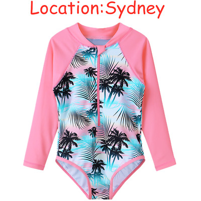 6M-9Y Girls Swimwear One-piece UV+50 Swimsuit Bath Suit Swimmers Surf Holiday