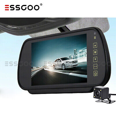 "Car Rear View 7"" Lcd Monitor + Night Vision Reversing Parking Camera 8Led Kit"