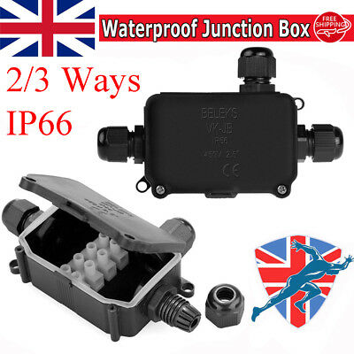 2/3 Way Outdoors Waterproof IP66 Underground Cable Wire Connectors Junction Box