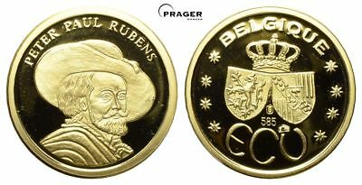Belgin, Goldmedaille 1995, ECU, Peter Paul Rubens, 3g - 585 Gold, 20,10 mm