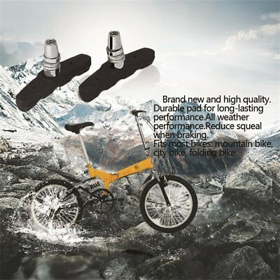 2 X PAIR STANDARD Bicycle V-BRAKE PADS for hybrid/Comfort/Mountain Bikes J0