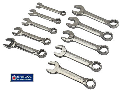 Stubby Combination Spanner Set With 12 Point Ring Britool Hallmark