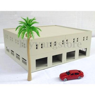 Outland Building Models N HO OO Scale Garage / Logistics Centre Unpainted Model