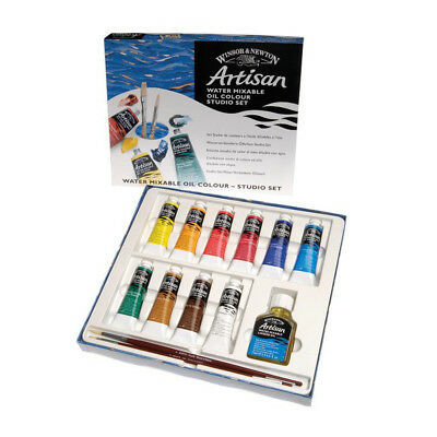 Winsor & Newton Artisan Water Mixable Oil Paint 14 Piece Studio Gift Set
