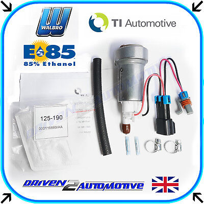 Walbro F90000285 525LPH High Flow Fuel Pump + 400-0085 Kit E85 Flexi Fuel NEW!