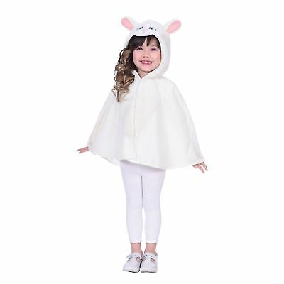 Sheep Cape Age 4-6 Years Christmas Children's Wear White Fluffy Hoodie Nativity