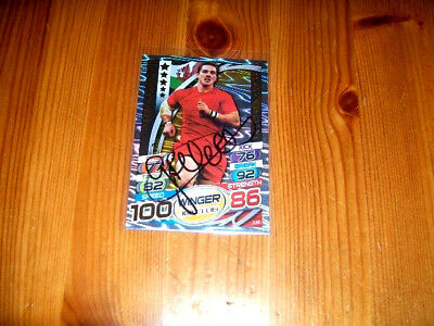 2015 Rugby Attax   George North  (Wales)  Hundred Club  signiert