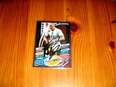 2015 Rugby Attax  Mike Brown  (England)  Limited Edition  signiert
