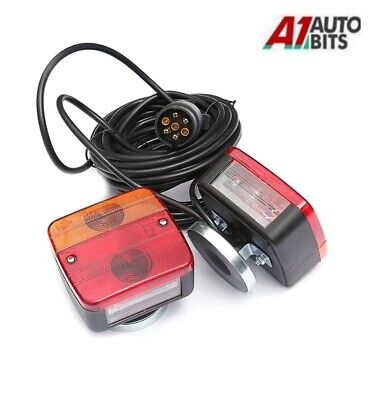 Pre Wired Trailer Van Rear Towing Light Board Lights Lamps + 7.5m Cable With E4