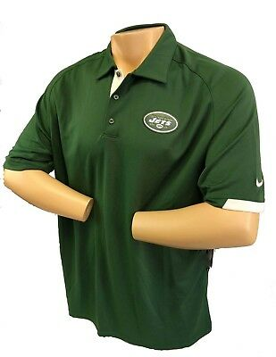 11b93277 NEW YORK JETS Large Polo Shirt NFL Nike Men's Green DRI FIT Sideline Elite