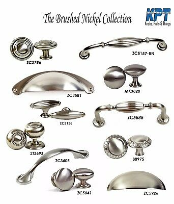 Knobs Pulls Handles Kitchen Cabinet Hardware Brushed Nickel Collection by KPT