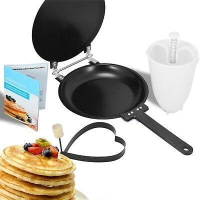 Crepes Pancake Maker Omelette Flip Pan Frying Free Batter Dispenser