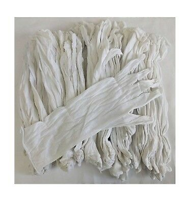 """Inspection Gloves Liners 100% Cotton White 24 Pair 13"""" extra long 97500"""