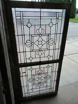 ~ Antique Stained Glass Windows Top Bottom 18 Jewels ~ Architectural Salvage